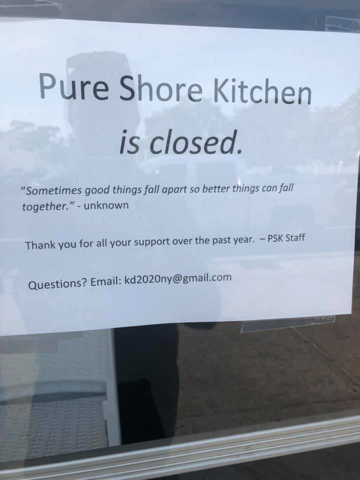 The eatery announced its closure this week.