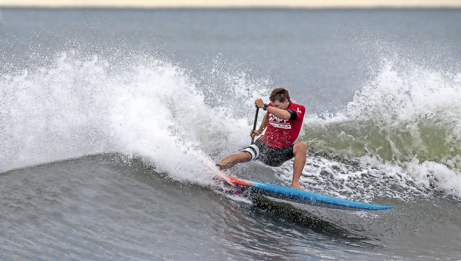 Professional surfer Sean Poynter won the men's competition in last year's New York SUP Open in Long Beach.