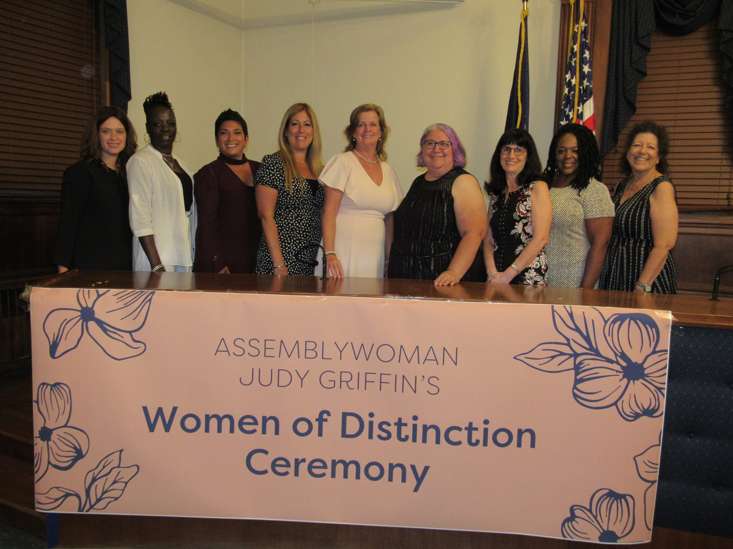 Women throughout different parts of Long Island were honored by State Assemblywoman Judy Griffin during her inaugural Women of Distinction awards ceremony on Aug. 7.