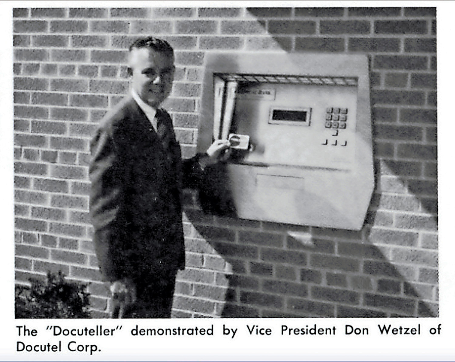 Don Wetzel, inventor of the ATM, left, will be in Rockville Centre for a 50th anniversary celebration on Sept. 6.