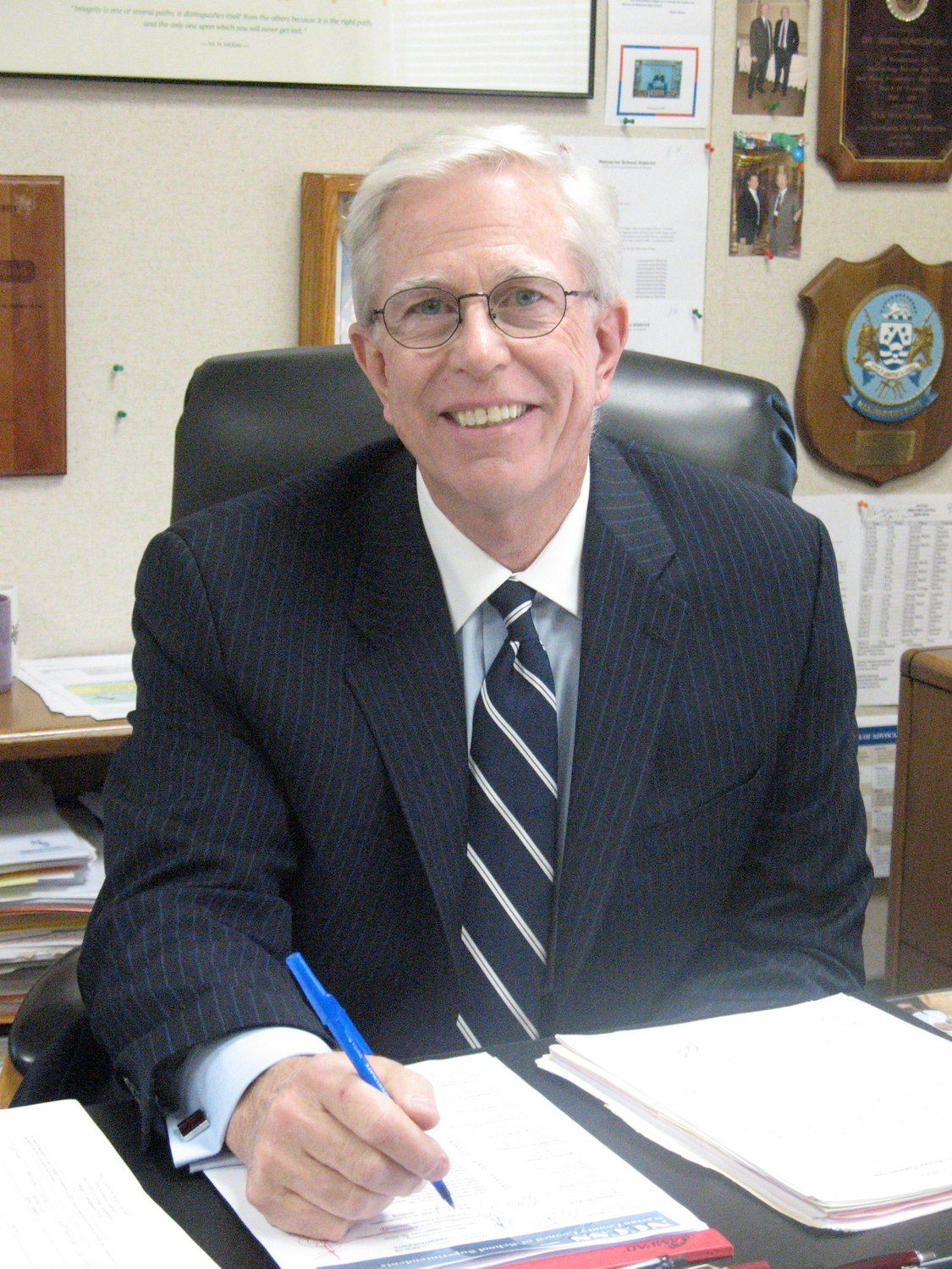 Superintendent Dr. James Hunderfund announced that he plans to retire in September after more than a decade of service in the district.