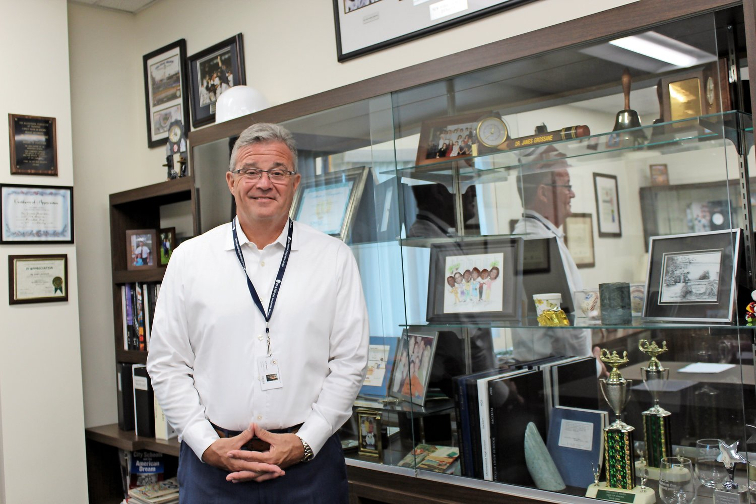 James Grossane took over as the superintendent of the Sewanhaka Central High School District in July, and has since been working to prepare for the start of the school year.