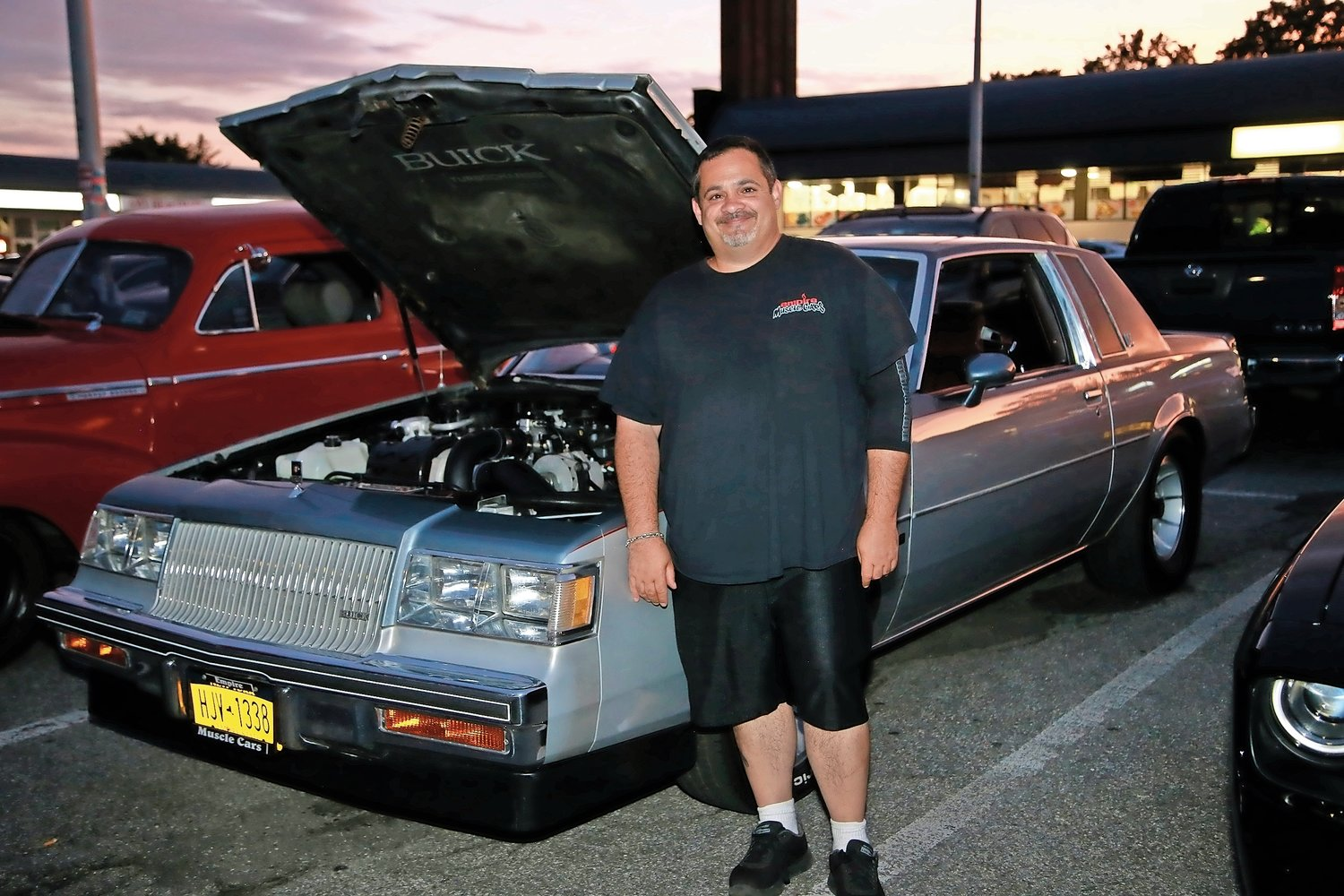 Victor Doto, president of the Empire Muscle Car club, posed with his 1987 Buick Turbo T Regal.