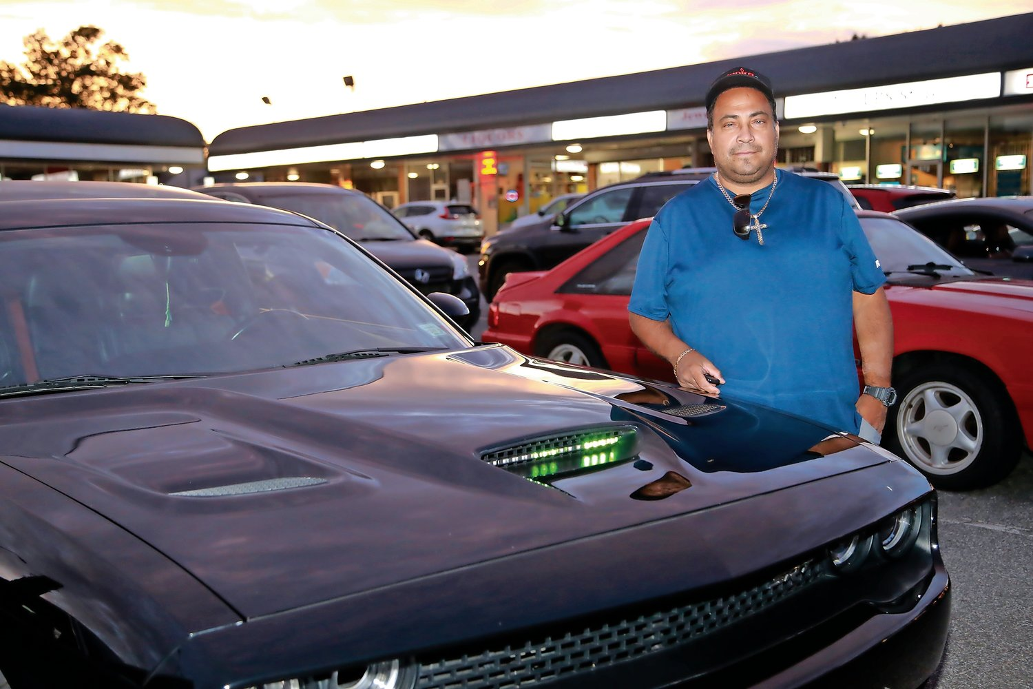 Angel Ayala showed off his 2016 Dodge Challenger Hellcat.