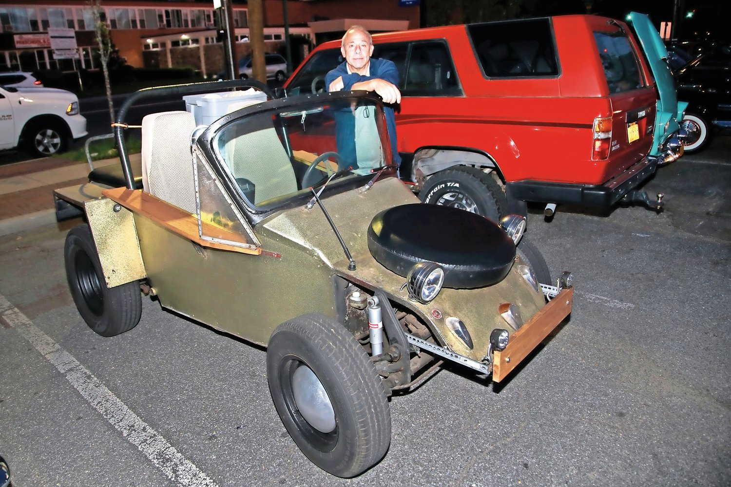 John Randazzo, president of the Dawgwood Boyz club, brought his one-of-a-kind 1960 Volkswagen Dune Buggy to the club's weekly car show on Aug. 27.