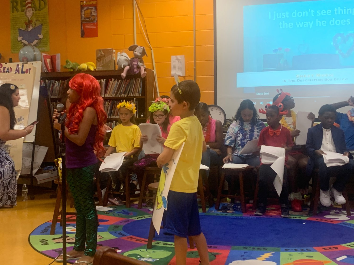 Students got to sing and dance as Disney-inspired characters.