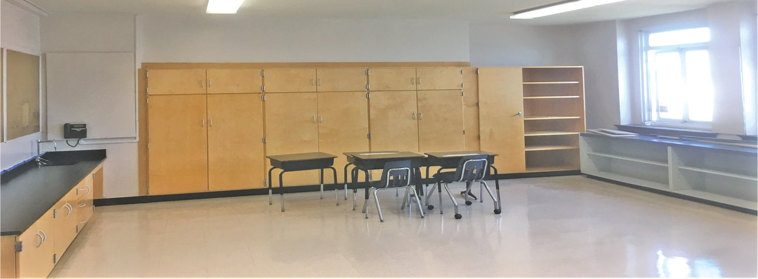 New classroom casework and flooring are prominent at Francis X. Hegarty Elementary School.