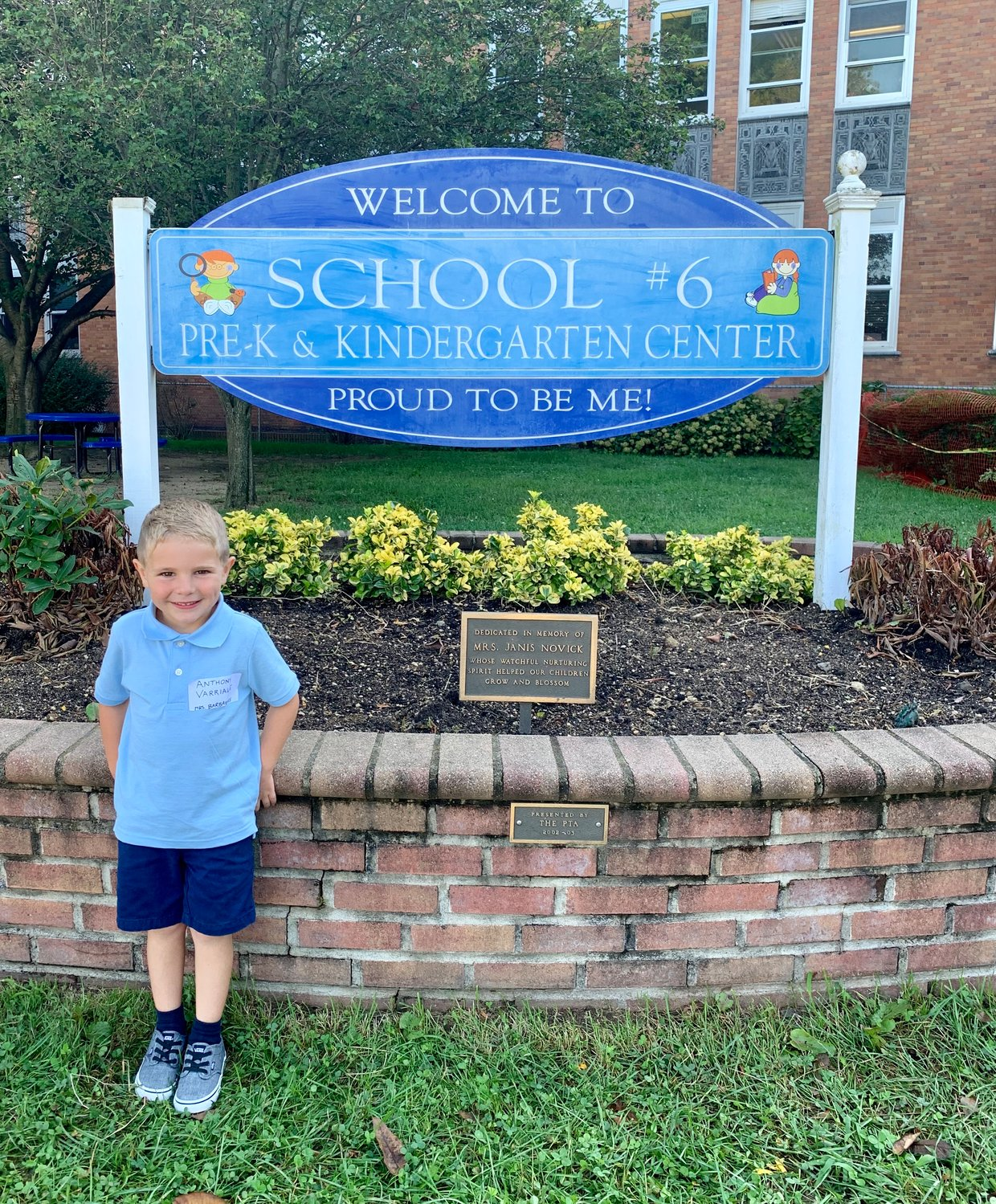 Anthony Varriale took in his surroundings on his first day of kindergarten at Oceanside School No. 6