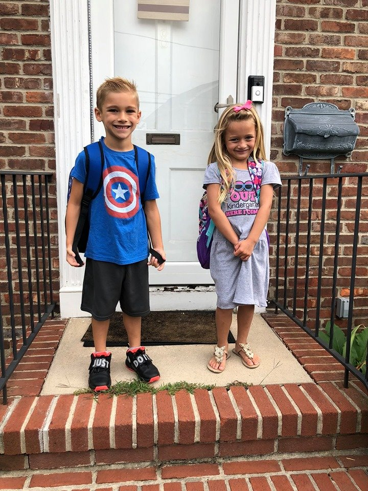 As classes were back in session in Lynbrook and East Rockaway, Jake and Madison Lynch prepared to attend first grade and kindergarten, respectively, at Rhame Avenue Elementary School.