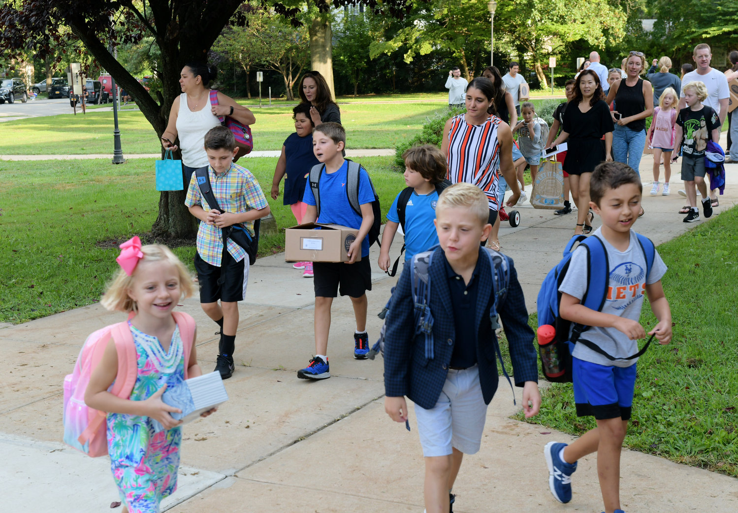 Kids and parents marched to the front door, excited to get the 2019-20 school year underway.