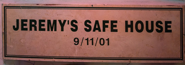 A 9/11 plaque at Jeremy's Ale House at South Street Seaport in Manhattan.
