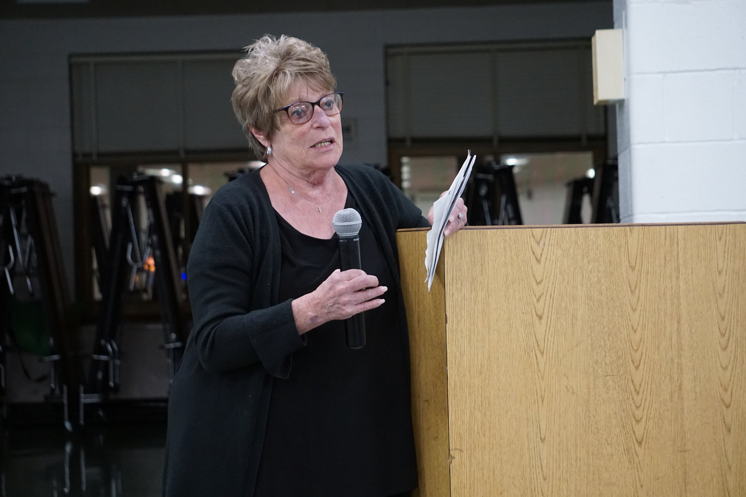 Valley Streamer Karin Longo pleaded with the Central High School District Board of Education on Aug. 27, asking them to provide late-bus service to her grandson who attends private school. His mother died of breast cancer in June.