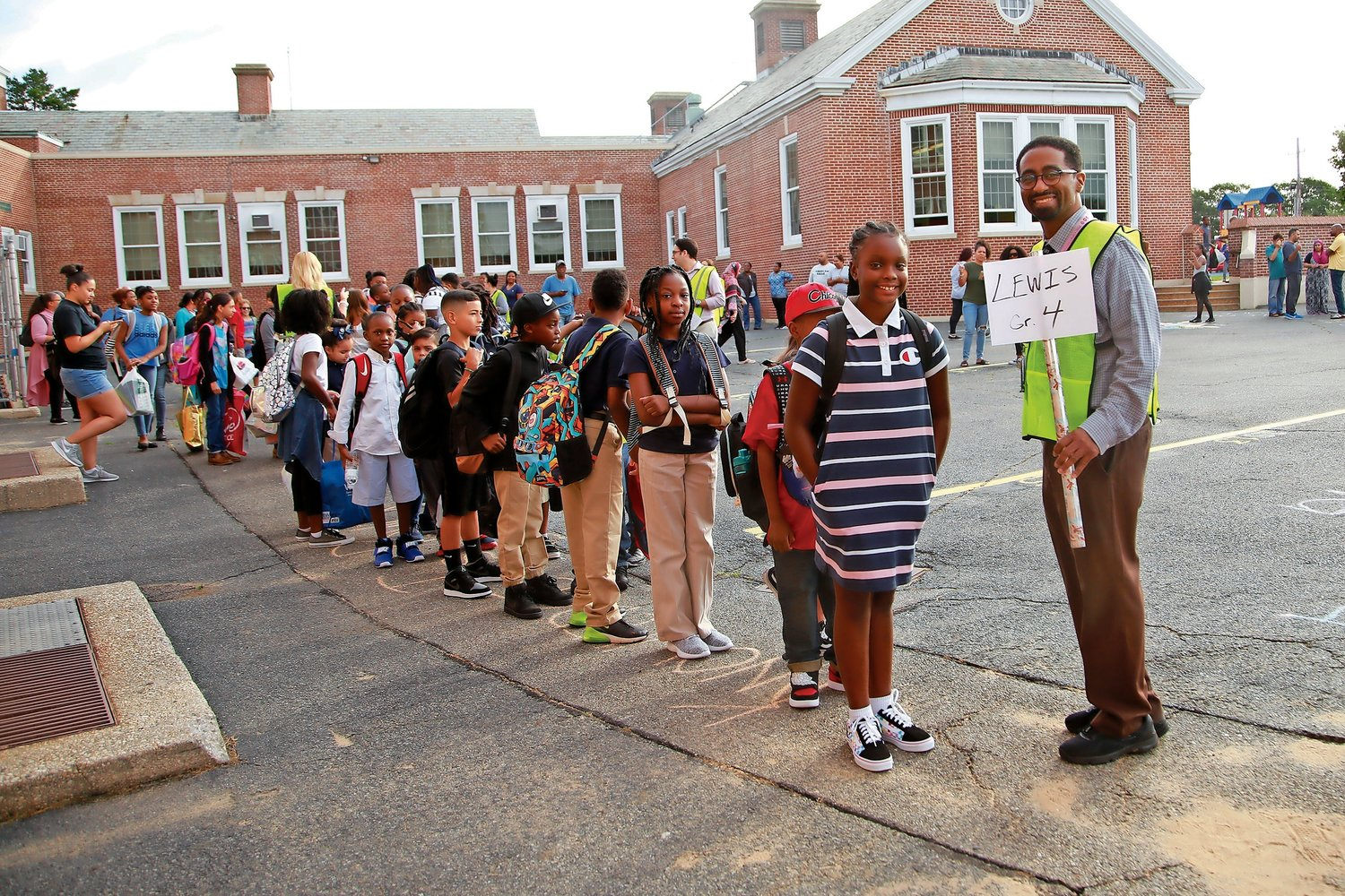 Mr. Lewis welcomed his fourth-grade class to Alden Terrace.