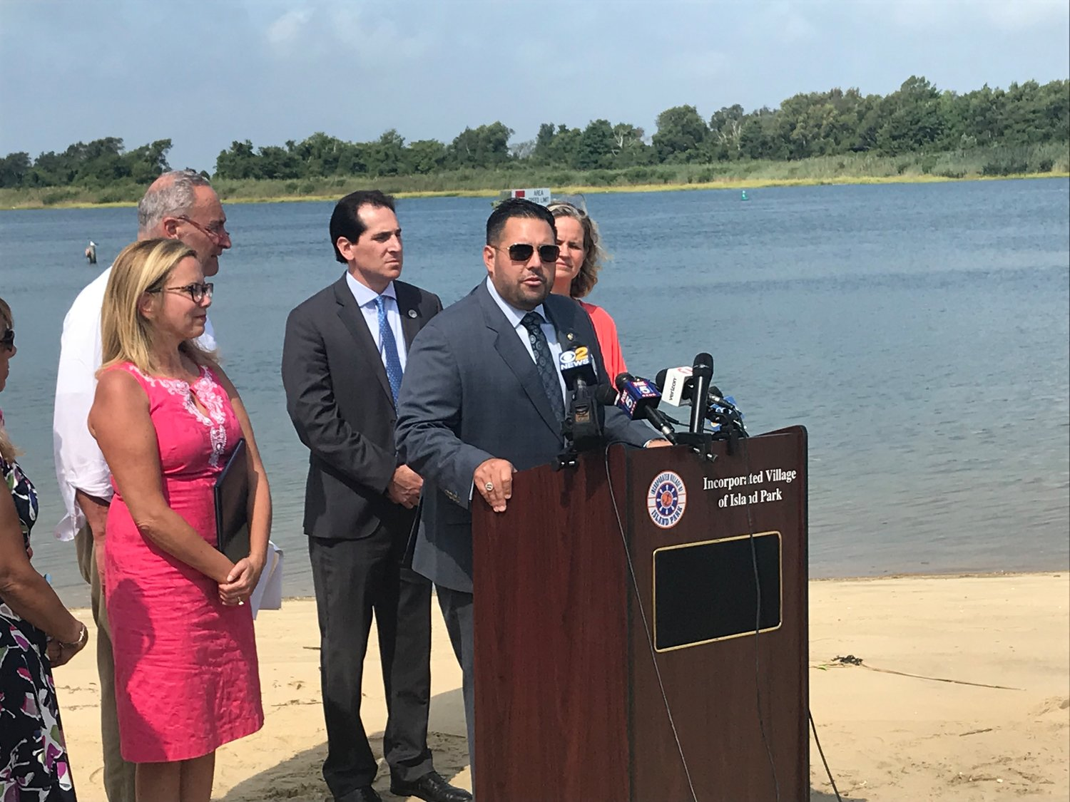 Hempstead Town Councilman Anthony D'Esposito, of Island Park, said he recalled serving as the Island Park Fire Department chief during Sandy, and said he hoped to never see such a storm devastate the area again.