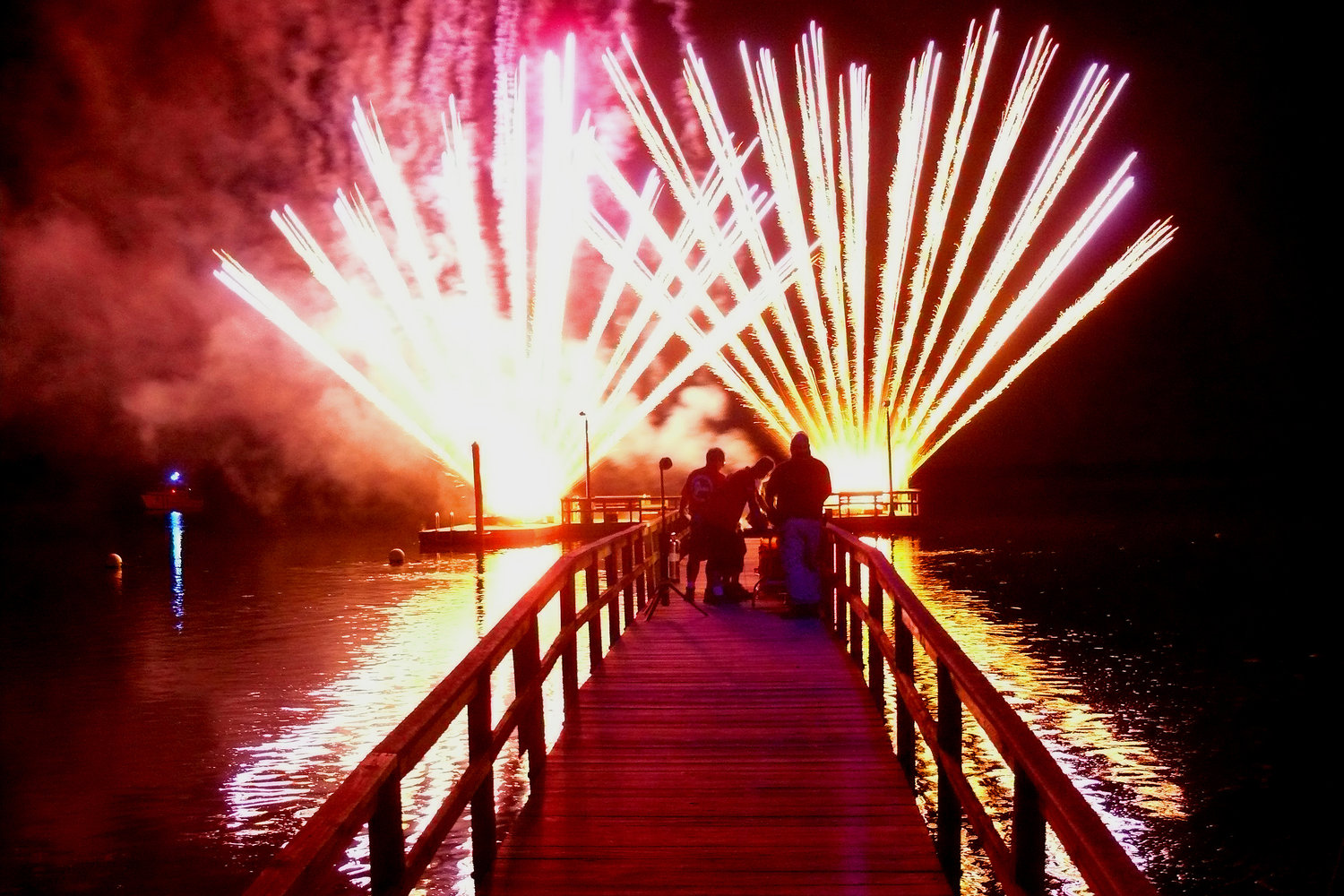 Fireworks lit the night sky to put a dazzling end to the summer fun.