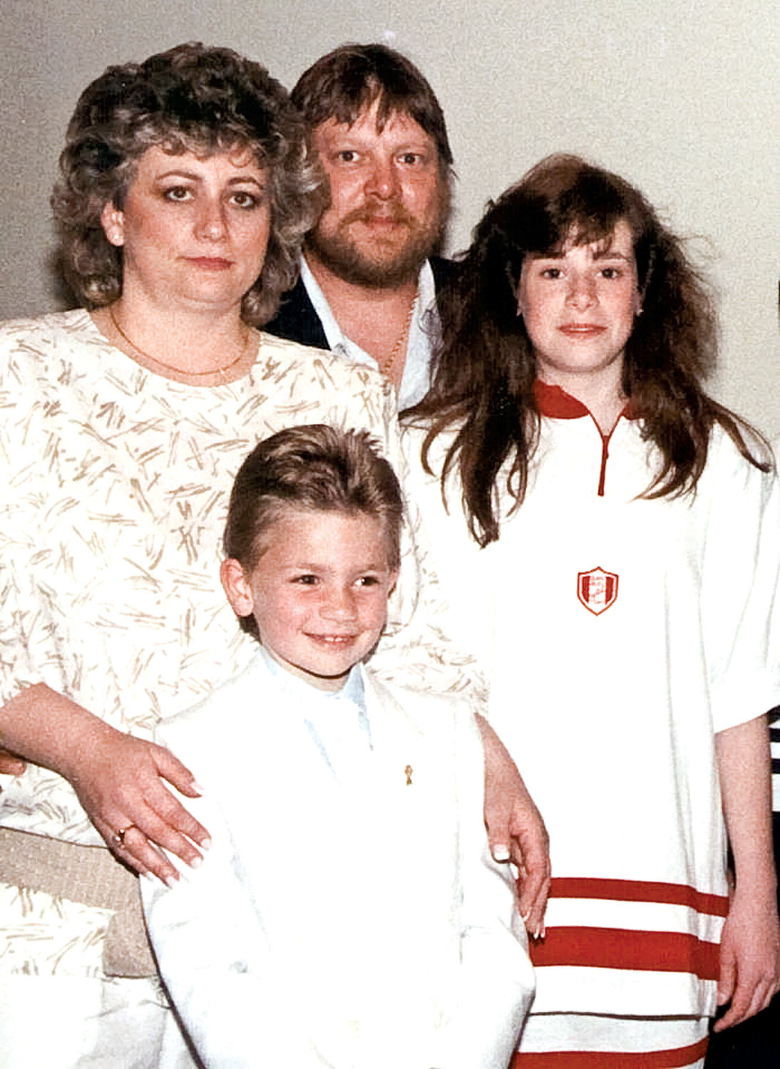 The Tinyes family, clockwise from left, Victoria, Richard, Kelly Ann and Richie Jr.