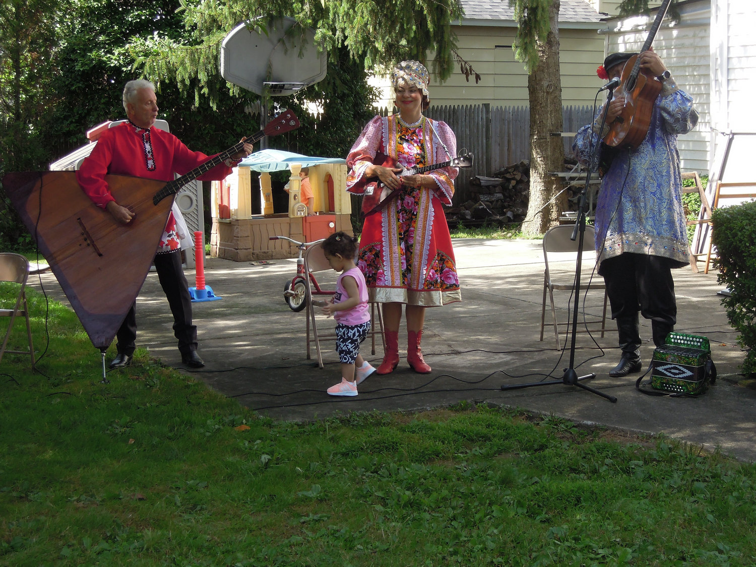 The Russian virtuoso group Baryna was joined by a member of the audience at Holy Trinity Orthodox Church's annual festival in East Meadow on Aug. 31.