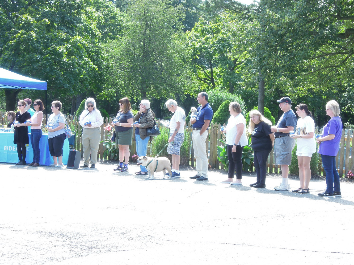 Some of the pet owners who turned out to read short memorials to their loved ones.