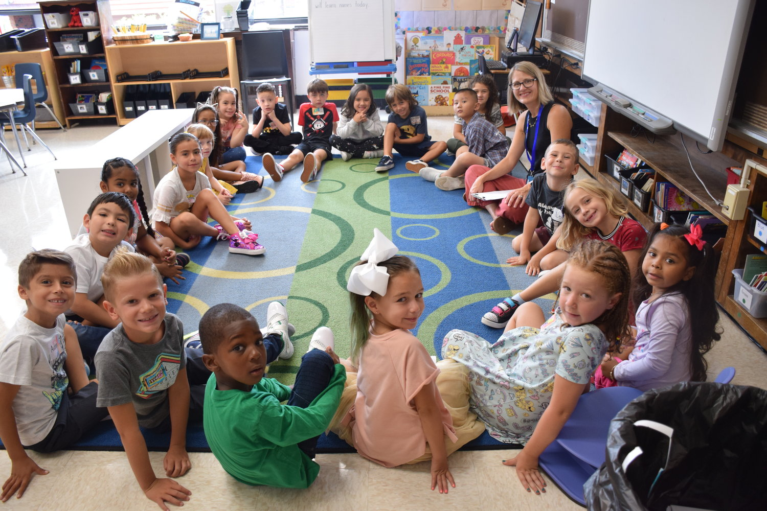 East Elementary School students made introductions, reviewed schedules and rules on the first day of classes.