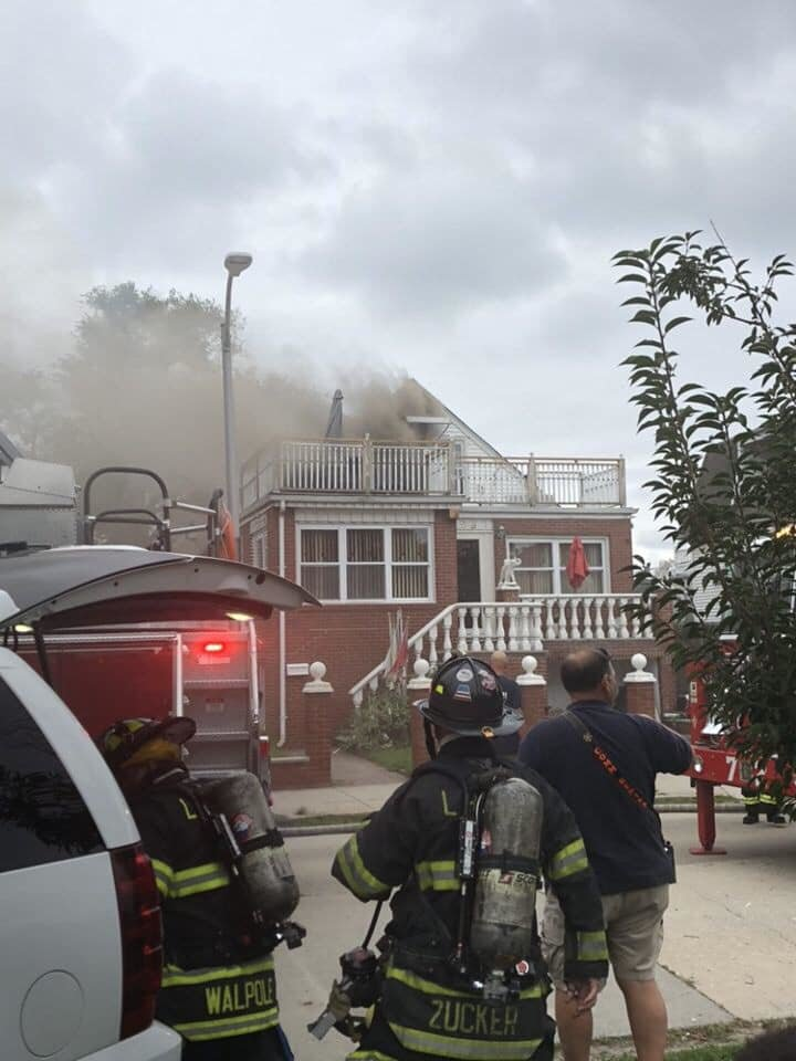 Firefighters rushed to a blaze on West Hudson Street Thursday, where they were met with heavy flames and smoke.
