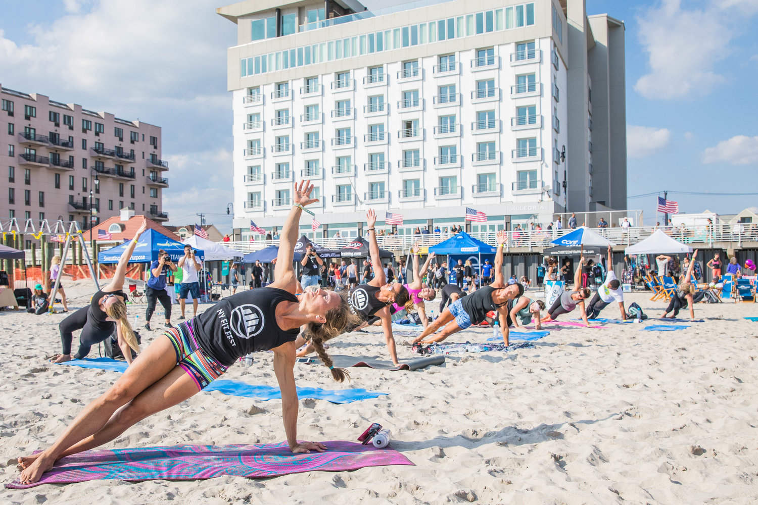 NY Fit Fest offers a variety of activities, including yoga.