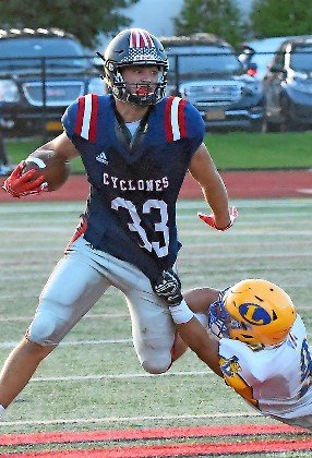 South Side's Nick LiCalzi ran through Lawrence's defense last Friday night for 230 yards and totaled three touchdowns in the Cyclones' 35-7 victory.