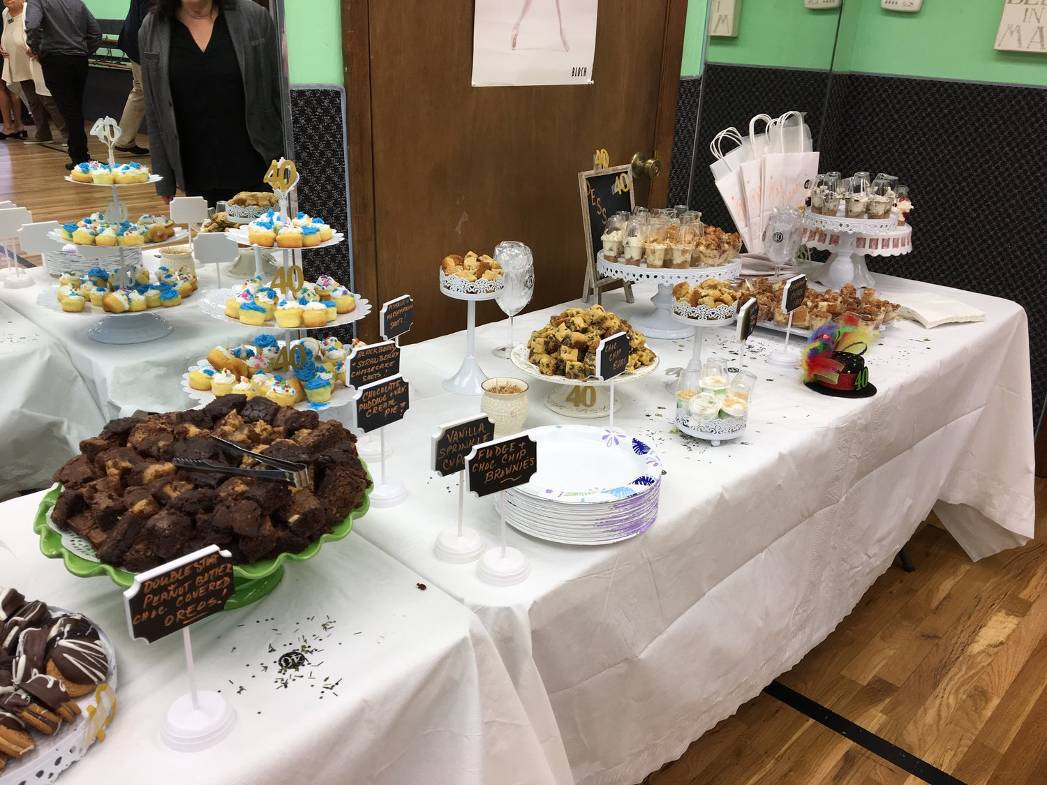 The celebration was fit with a spread of desserts and drinks.