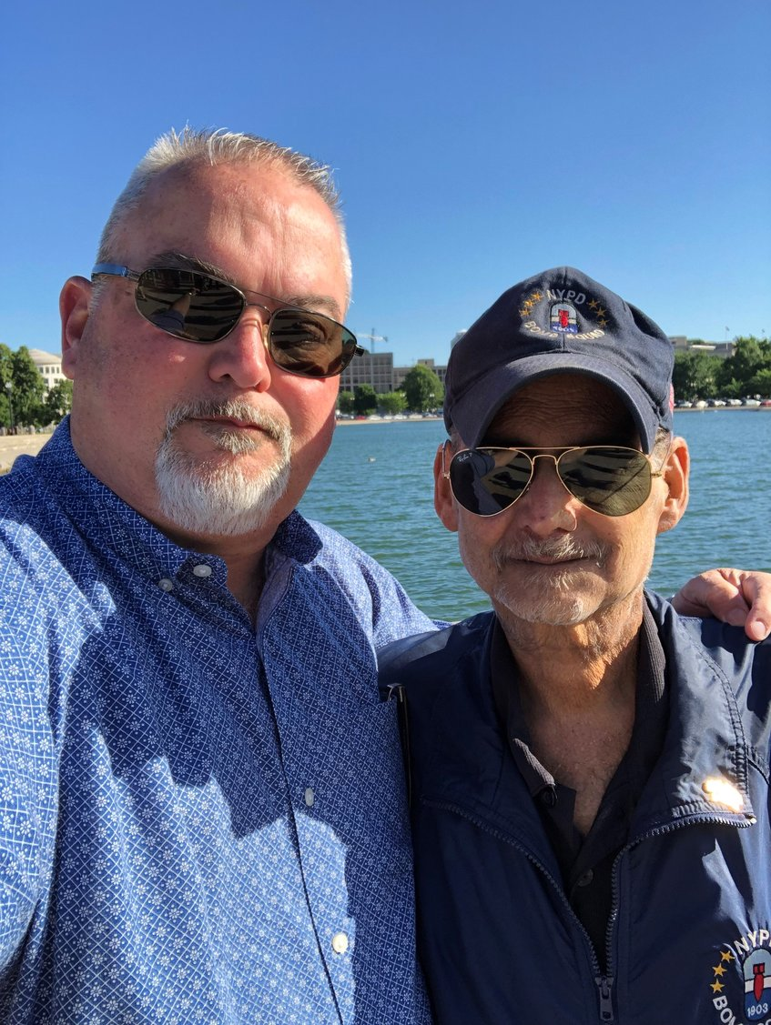 Phil Alvarez, left, joined a law firm to help 9/11 first responders in honor of his brother, the late Luis Alvarez, who died of 9/11-related cancer and fought successfully for the replenishing of the September 11th Victim Compensation Fund.