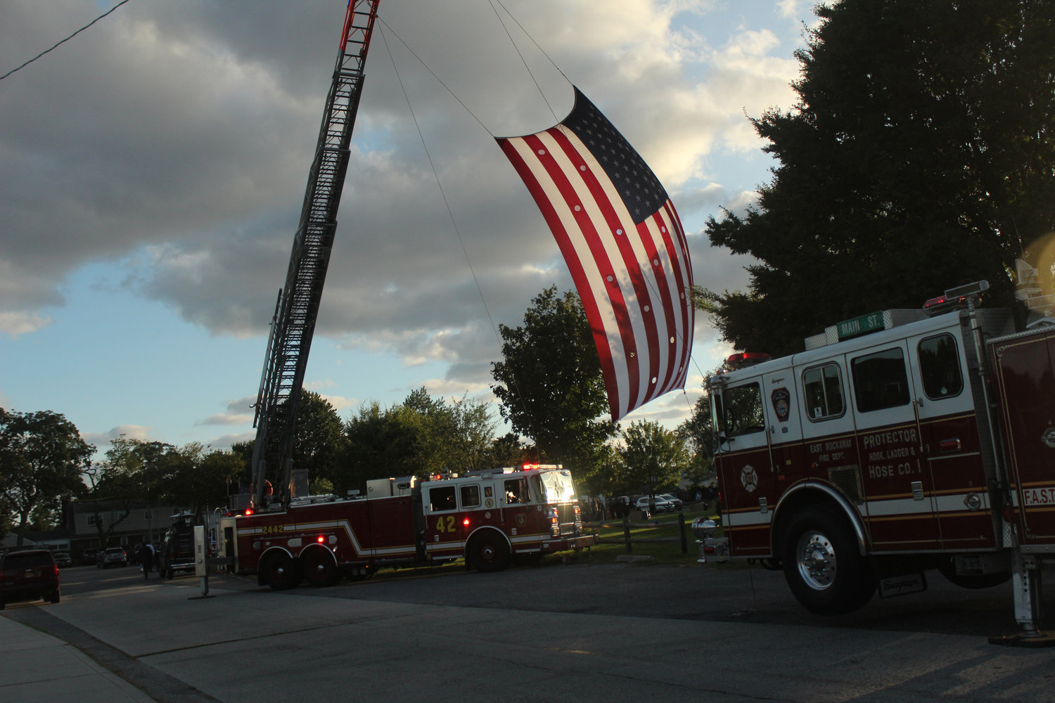 An American flag flew in memory of the late Luis Alvarez when the Oceanside community memorialized him last Friday.