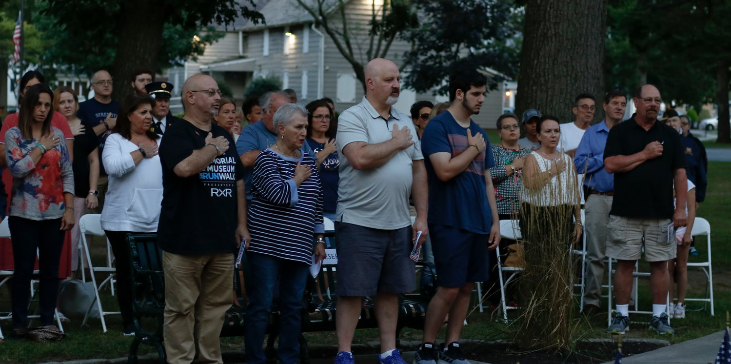 Dozens of residents attended the East Rockaway 9/11 memorial ceremony on the 18th anniversary of the attacks.