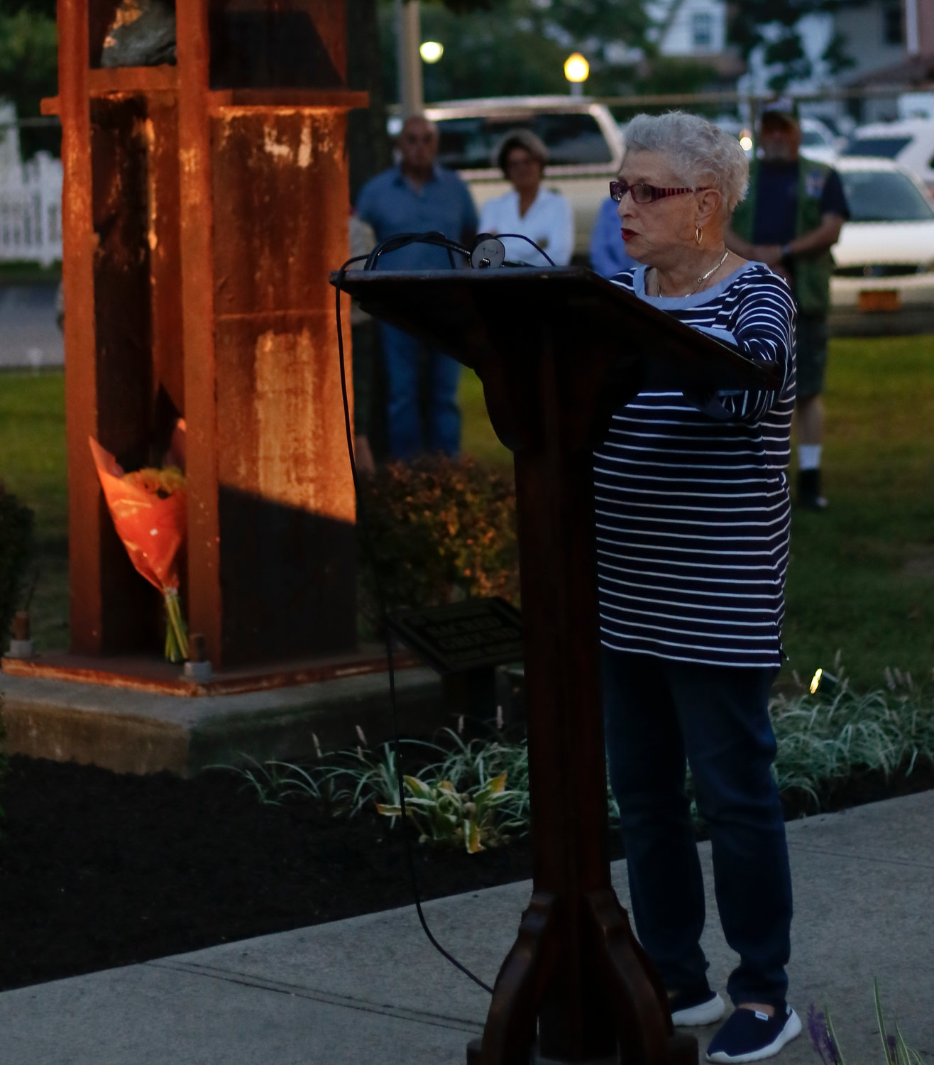 East Rockaway resident Barbara Stern, whose son, Andrew, died on 9/11, reflected on how different the country was on the 18th anniversary of the attacks compared to the immediate days after in 2001.