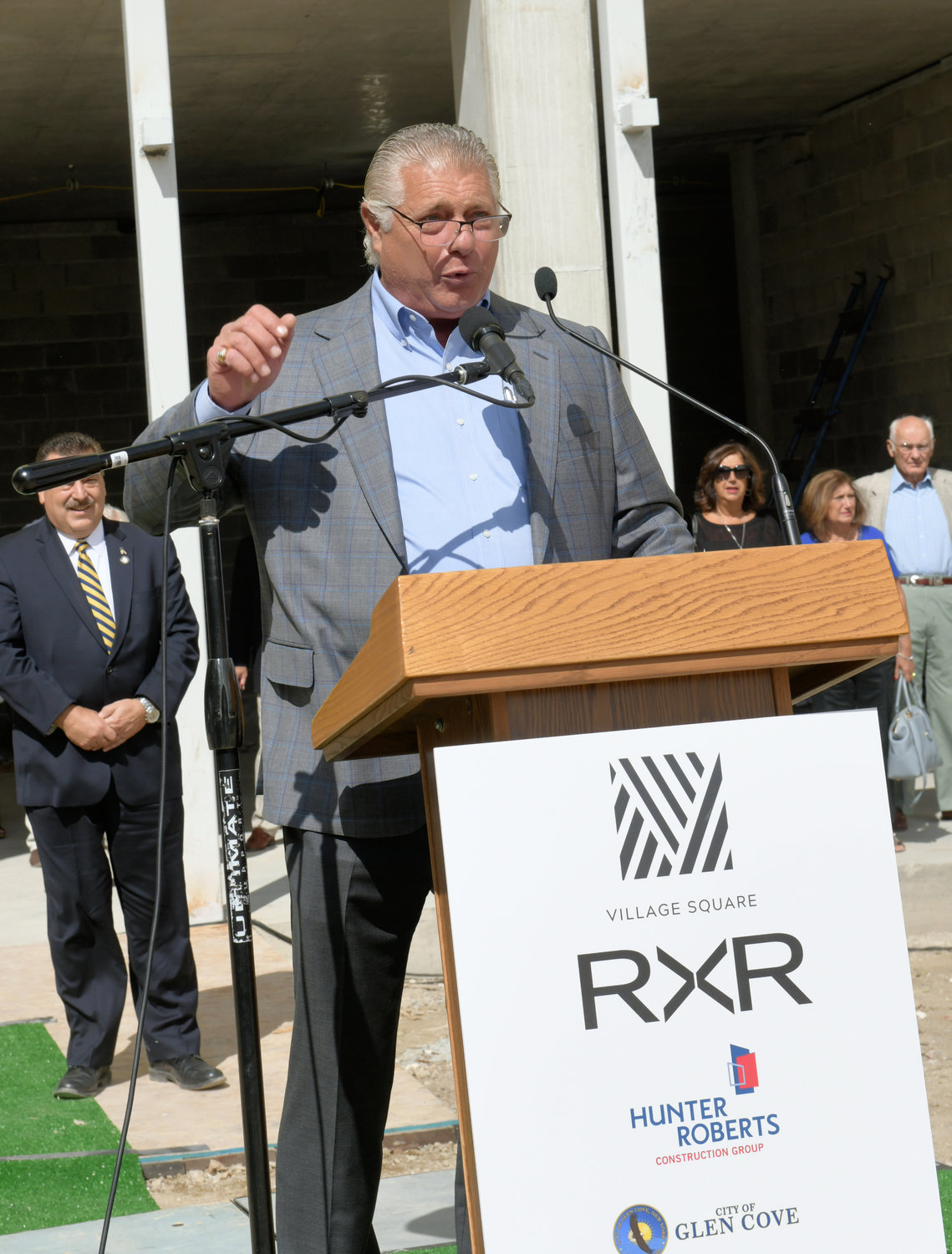 Joe Graziose, RXR Realty's executive vice president of residential development and construction, said the redevelopment at Village Square and Garvies Point would bring prosperity to Glen Cove's downtown area.
