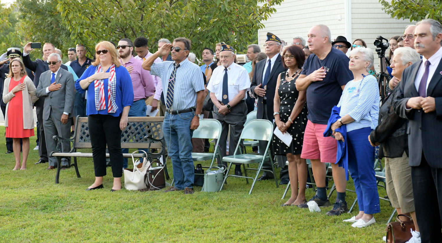 Glen Cove residents gathered at Pratt Park to honor the victims of the Sept. 11 terrorist attack.