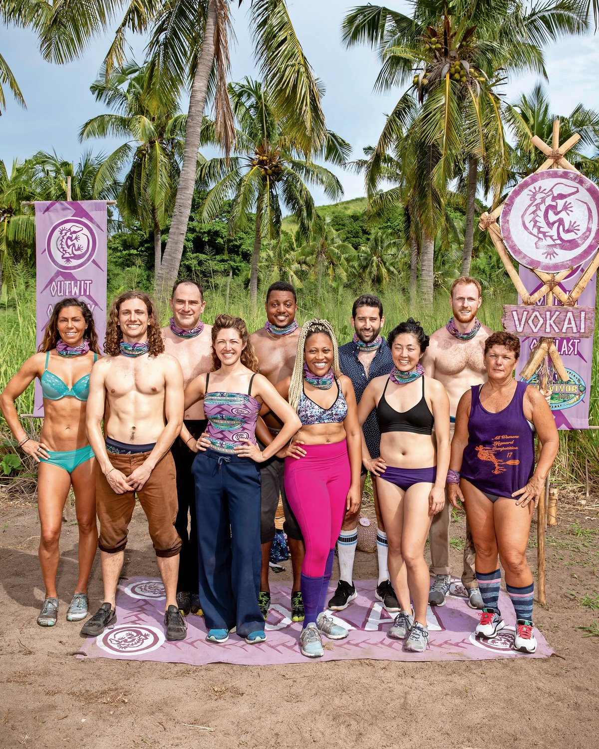 "There were all different types of people competing in Fiji on ""Survivor"" this season, including Bayville's Tommy Sheehan, far right, back row, a fourth-grade teacher from Bayville."