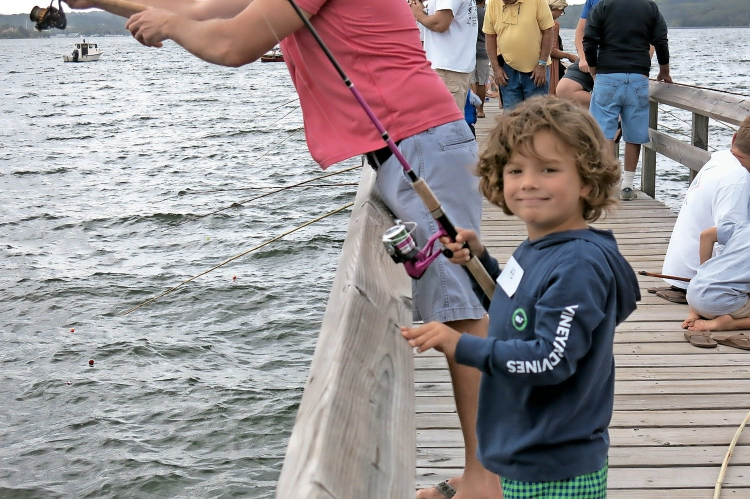 Dylan Reinecke enjoyed every minute of fishing during the derby.