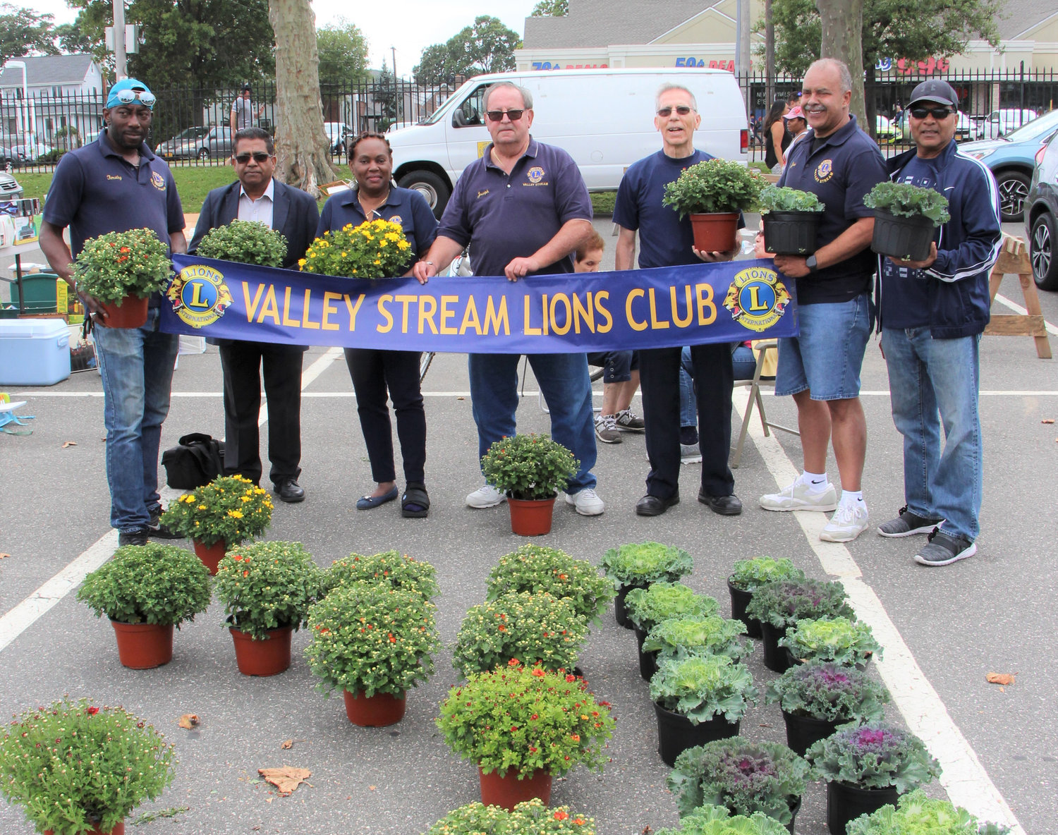 Valley Stream Lions Club members, Tim Linton, left, Tasneem Shahzad, Junon D.Zephyr, Bernard Chicarelli, Joe Scholl, Jose Pastran and Chanman Persaud. All funds raised from the event go to Lions International charities.