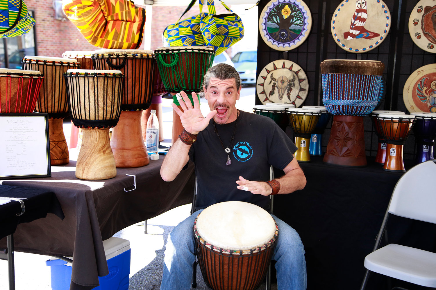 George Schultze of Spirit Sky Drum was one of the many vendors present at 2018's Community Fest.