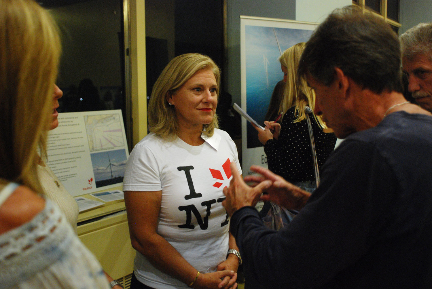 Julia Bovey, director of external affairs for Equinor Wind US, was on hand for a state-sponsored open house on Sept. 19 to present plans for two offshore wind farms, one off Jones Beach and the other off Montauk Point.