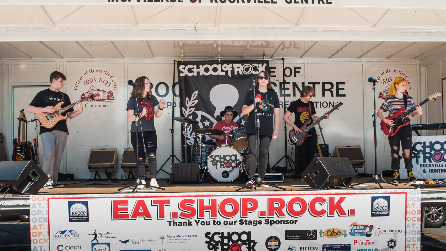 Students from Huntington School of Rock entertain their crowd with awesome rock songs for Eat. Shop. Rock. in RVC on Sept. 22nd.