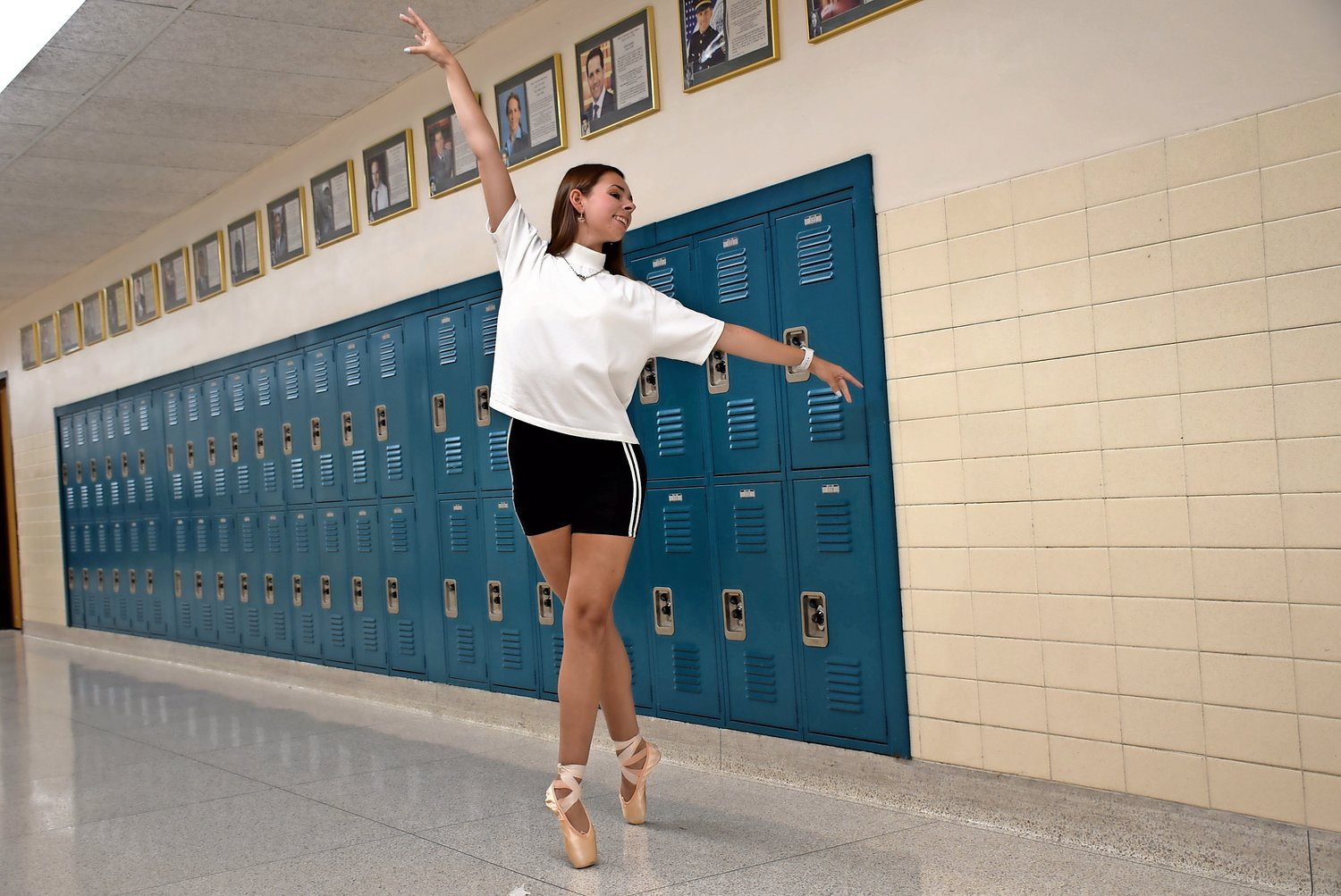 Senior Isabella Aletrakis, of Merrick, danced through the halls of John F. Kennedy High School. She was recently selected as a Long Island Scholar Artist for the 2019-20 school year.