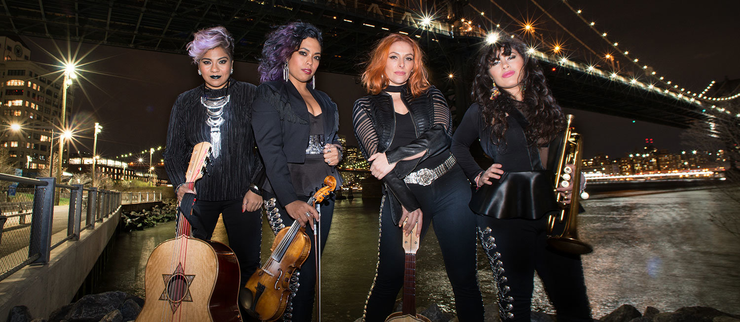 The Latin Grammy-winning ensemble Flor de Toloache visits the Landmark on Main Street stage on Sept. 27.