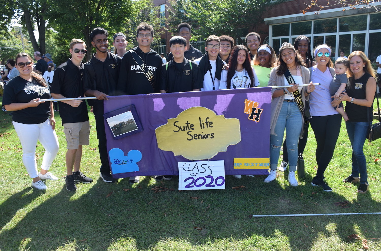 West Hempstead High's senior class displayed its banner at the parade.