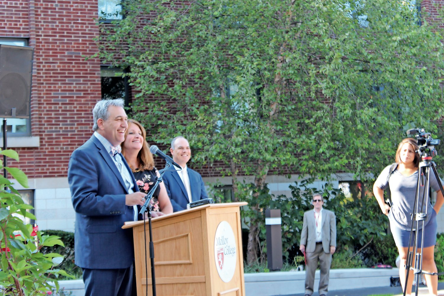 Drew and Karen Bogner thanked their friends, family and the Molloy community for their ongoing support.
