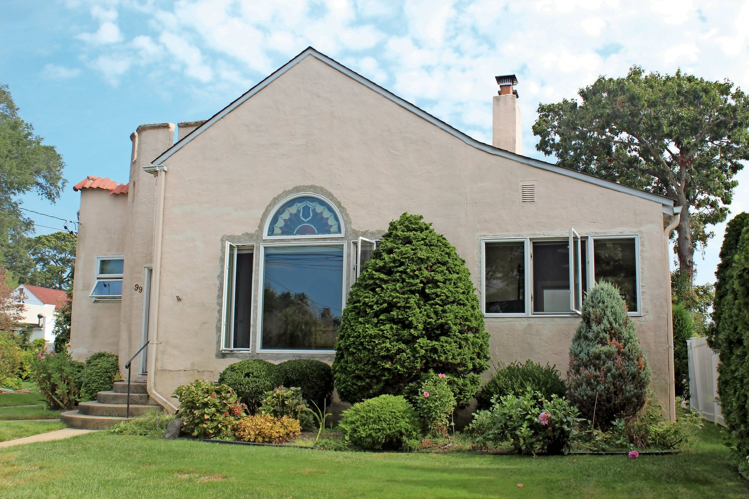 Robert Fliegel's home, at 99 Fox Blvd., is under consideration for landmark status by the Town of Hempstead.