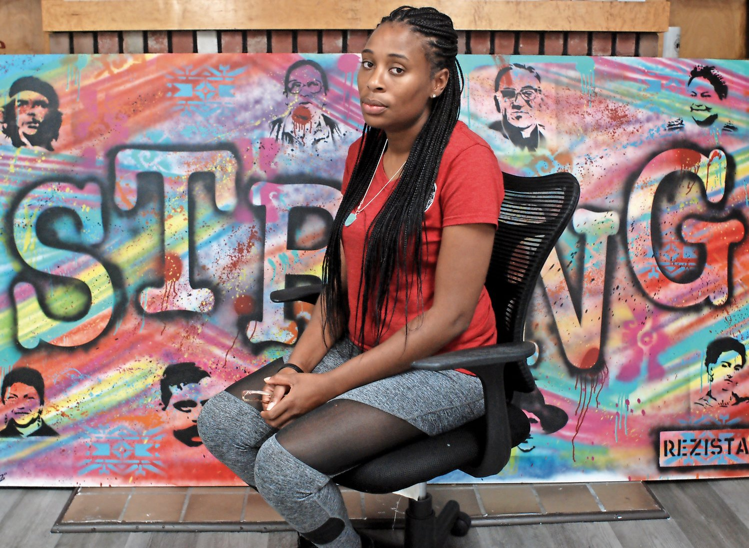 Sharelle Allen, 31, pictured at STRONG Youth in Uniondale, where she is a case manager, said she believes her severe pain when she gave birth suddenly to her second child in 2017 was ignored by her nurse and midwife. According to experts, medical professionals often overlook pain felt by African-American patients, believing that black people have a higher tolerance for pain than white people. Implicit bias and racism in the medical field help explain the disparity in the infant mortality rate between communities of color and white communities, experts say.