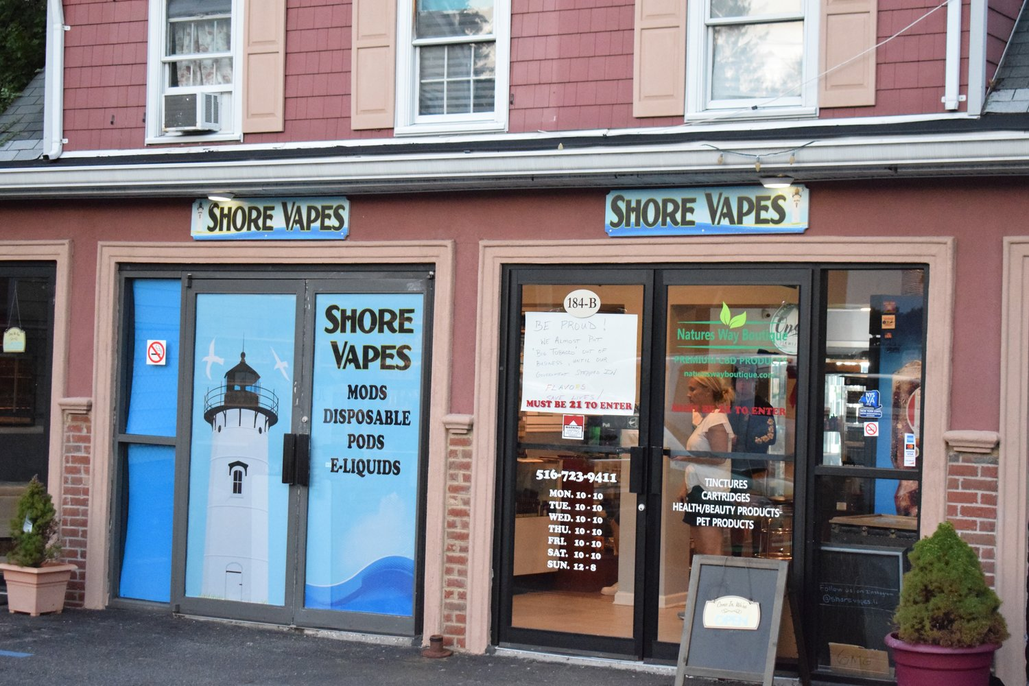 Glen Cove's Shore Vapes could be affected by calls for tightening restrictions on vape and e-cigarette products.