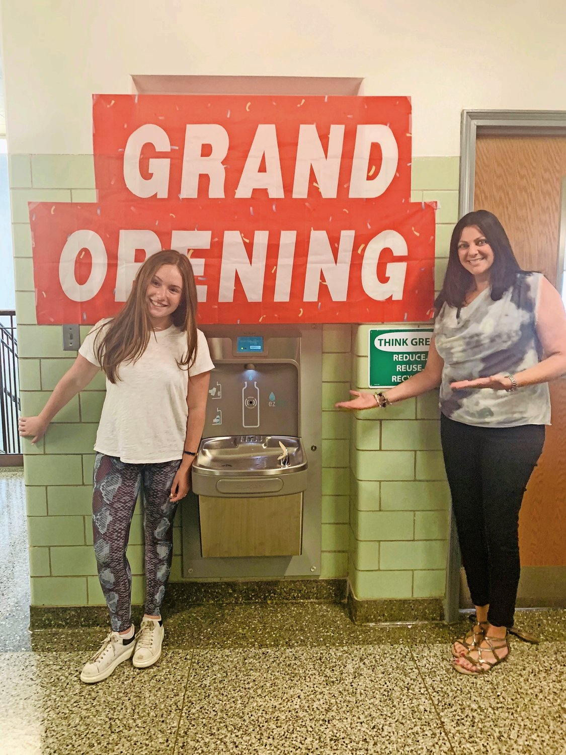Rebecca Weissman, a junior at Oceanside High School, left, and earth science teacher Jeanette Wolfson are the president and advisor, respectively, of the C.A.R.E. club, which stands for Community Activists Recovering Earth.