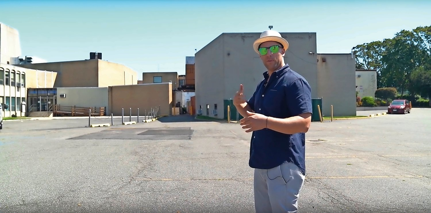 In a YouTube video posted on Sept. 3, real estate developer Charles Weinraub described his plans to build on the property that is currently an Oceanside Jewish Center building and parking lot.