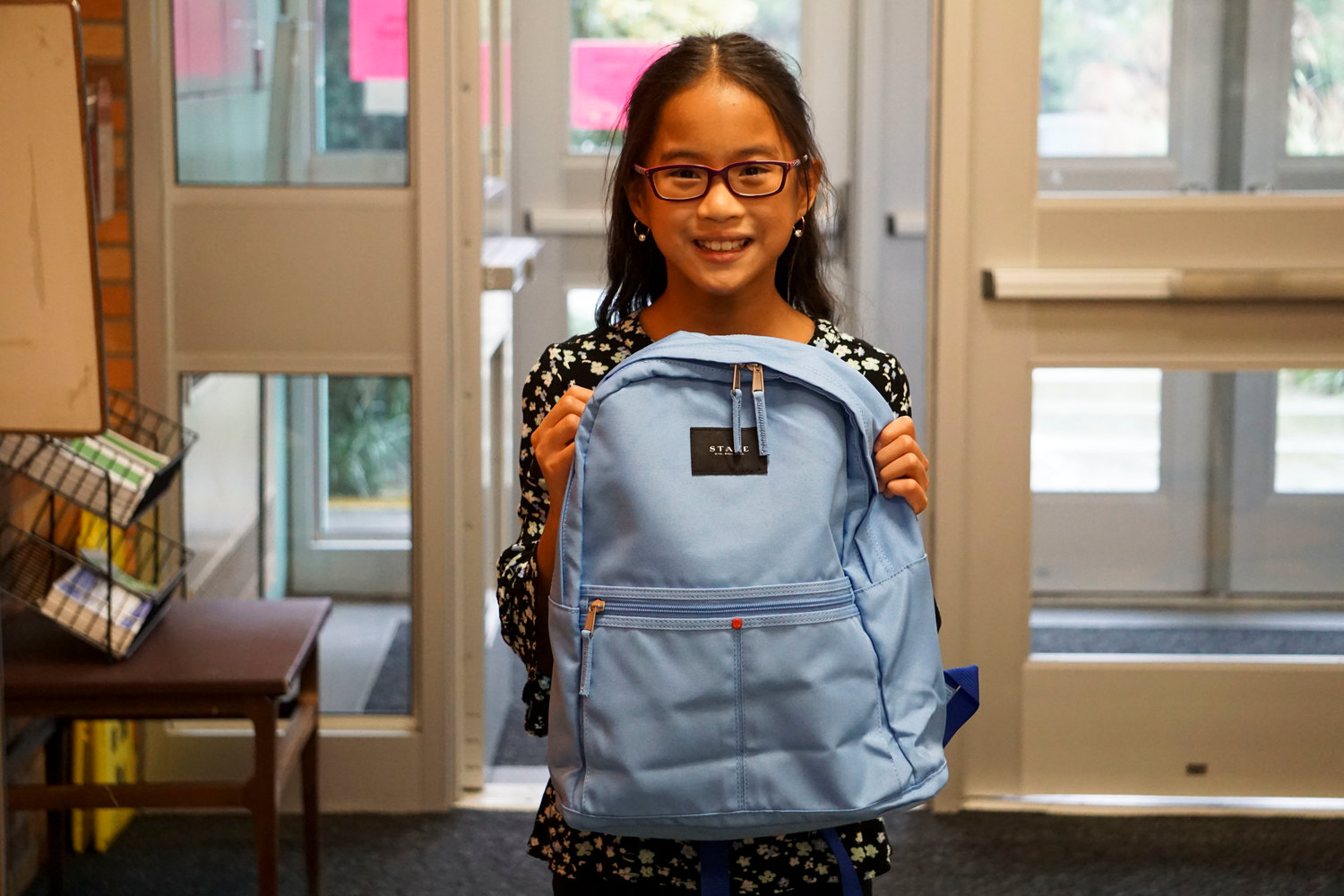 Ten-year-old Jessica Tramontano, said she was excited about her new book bag.