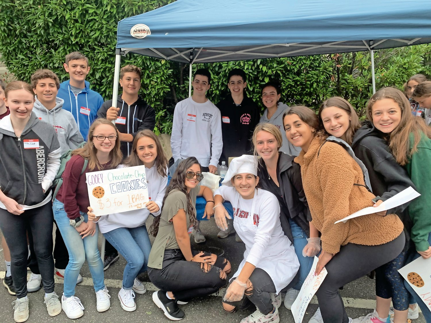 The North Shore Key Club sold fresh-baked cookies.